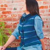 Plymouth Yarn 2731 3 Color Striped Vest
