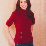 Plymouth Yarn 2760 Woman's Short Sleeve Pullover