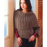 Plymouth Yarn 2765 Woman's Capelet Poncho