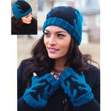 Plymouth Yarn 2769 Adult Fingerless Mitts & Hat