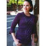 Plymouth Yarn 2817 Women's Lace Panel Pullover