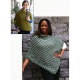 Plymouth Yarn 2838 Cabled Edge Poncho
