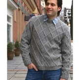 Plymouth Yarn 2900 Men's Moss Diamonds Pullover