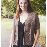 Plymouth Yarn 2920 Women's Cabled Shawl Collar Cardigan