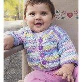 Plymouth Yarn 2934 Checkered Teeth Crochet Kid's Jacket