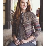 Plymouth Yarn 2966 Women's Cable Yoke Jacket
