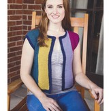 Plymouth Yarn 2969 Women's Colorblock Crochet Vest