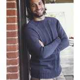 Plymouth Yarn 2979 Men's Top Down Raglan Pullover