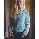 Plymouth Yarn 2983 Crochet Basketweave Cardigan