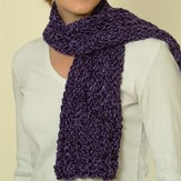 Plymouth Yarn F105 Sinsation Luscious Scarf (Free)