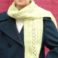 F106 Baby Alpaca Brush Lacey Scarf (Free)