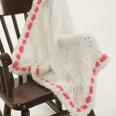 Plymouth Yarn F158 Heaven Baby Blankie with Trim (Free)