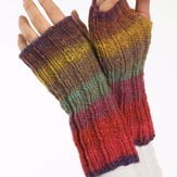 Plymouth Yarn F190 Boku Fingerless Gloves (Free)