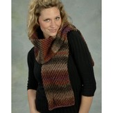 Plymouth Yarn F316 Diagonal Tube Scarf (Free)