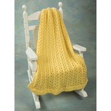 Plymouth Yarn F440 Encore Chunky Lace Baby Throw (Free)