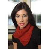 Plymouth Yarn F538 Cashmere Passion Reversible Chevron Cowl (Free)