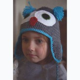 Plymouth Yarn F656 Crochet Owl Hat (Free)