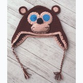 Plymouth Yarn F657 Crochet Monkey Hat (Free)
