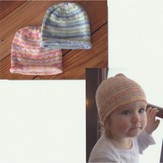 Plymouth Yarn F660 Striped Baby Hat (Free)
