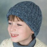 Plymouth Yarn SFA-01 Encore Worsted Ribbed Hat (Free)