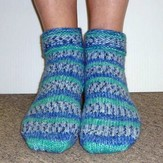 Plymouth Yarn SFA-03 Encore Worsted Ladies Slipper Socks (Free)