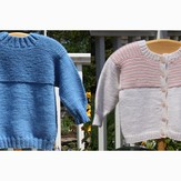 PollyMacc Designs Garter Down Pullover and Cardigan for Toddler