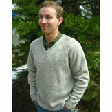 Knitting Pure & Simple 247 V Neck Down Pullover For Men