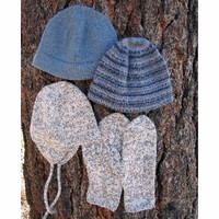 273 Basic Hat & Mitten Set For Men