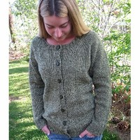 278 Neckdown Scoop Neck Cardigan