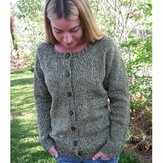 Knitting Pure & Simple 278 Neckdown Scoop Neck Cardigan