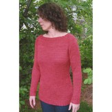 Knitting Pure & Simple 2911 Neckdown Boat Neck Pullover
