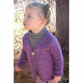 Knitting Pure & Simple 296 Girl's One Button Cardigan