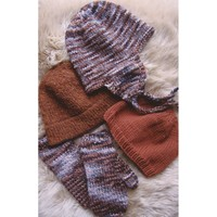 297 Bulky Hat and Mitten Set