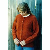 Knitting Pure & Simple 9725 Neck Down Cardigan For Women