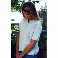 9727 Henley T-shirt For Women