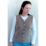 Knitting Pure & Simple 995 Basic Cardigan Vest For Women