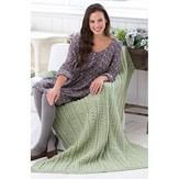 Red Heart Aran Isle Throw (Free)