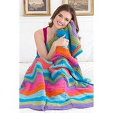 Red Heart Bright Ripple Throw (Free)