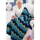Red Heart Ocean Waves Throw (Free)
