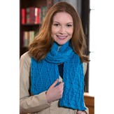 Red Heart Cable Warm Wishes Scarf (Free)