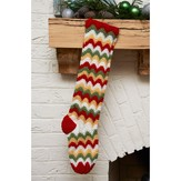 Red Heart Zigzag Stocking (Free)
