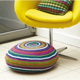 Rowan Bright Circle Stripe Floor Cushion (Free)