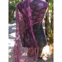 Lacy Pineapple Blossom Shawl
