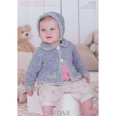 Sirdar 1493 Girl's Cardigan & Bonnet