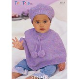 Sirdar 1513 Poncho and Beret