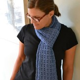 Spud & Chloë Reversible Rib and Lace Scarf (Free)