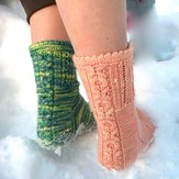 Steppingstone Fiber Creations Socks, With Love PDF