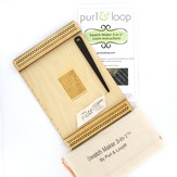 Purl & Loop Swatch Maker 3-in-1 Loom, Engraved with WEBS Logo