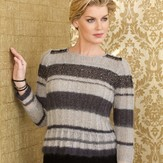 Stacy Charles Fine Yarns Cecile Stripe & Rib Pullover PDF