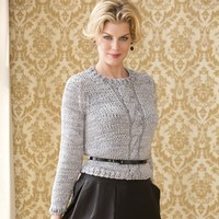 Laurence Cropped Cable Pullover PDF